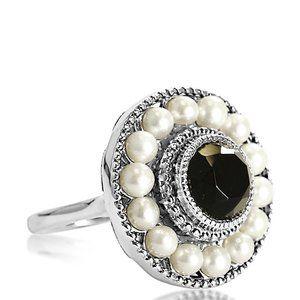 Tiffany & Co. Ziegfeld Pearl Ringx Size 3.5 197053